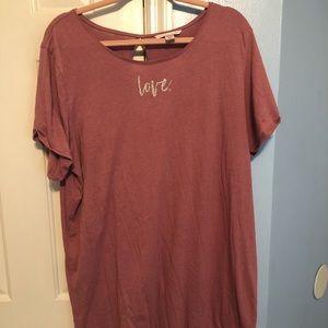 Victoria's Secret short sleeve crewneck sleepshirt